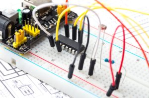 quick turn prototypes - breadboard with electronics
